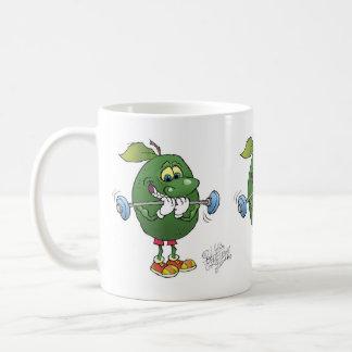 Weight lifting Avocados, on a mug. Basic White Mug