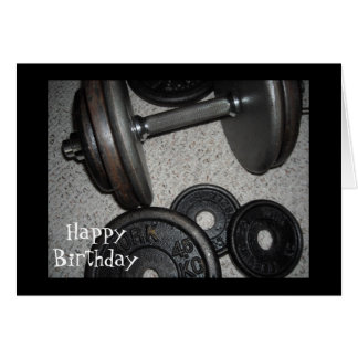 Weight Lifting Birthday Design Card
