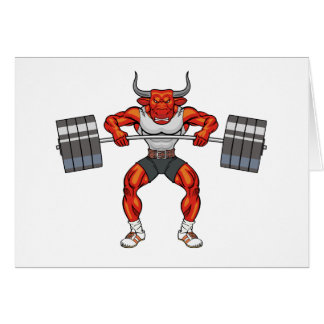 weight lifting bull 2 card