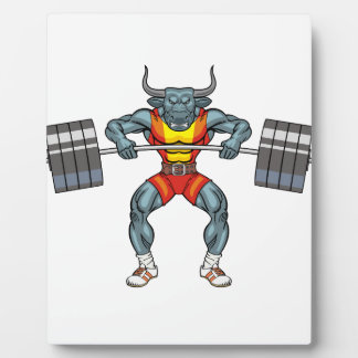 weight lifting bull 3 plaque