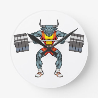 weight lifting bull 3 round clock