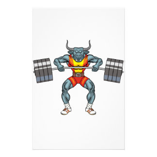 weight lifting bull 3 stationery