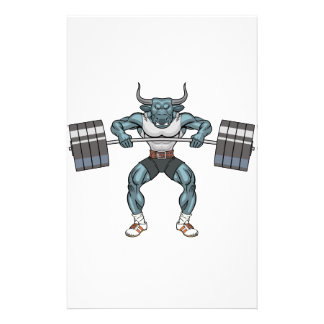 weight lifting bull stationery