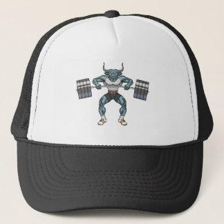 weight lifting bull trucker hat