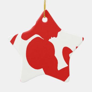 Weight Lifting Ceramic Ornament