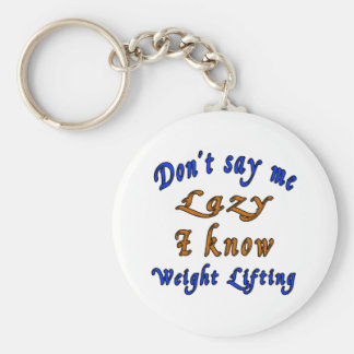 Weight Lifting Designs Basic Round Button Key Ring