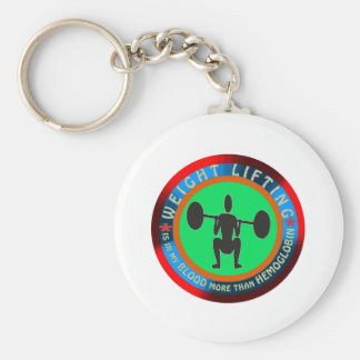 Weight lifting designs key chain