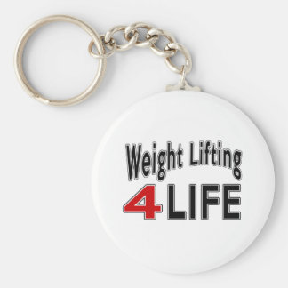Weight Lifting For Life Basic Round Button Key Ring