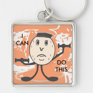 Weight lifting humor, square,  key chain