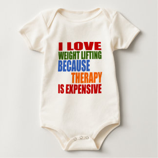 Weight Lifting Is My Therapy Baby Bodysuit