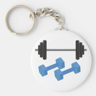Weight Lifting Key Chain