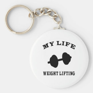 Weight Lifting My Life Basic Round Button Key Ring