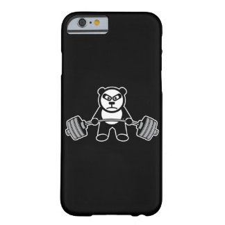Weight Lifting Panda Bear Anime Cartoon - Workout Barely There iPhone 6 Case