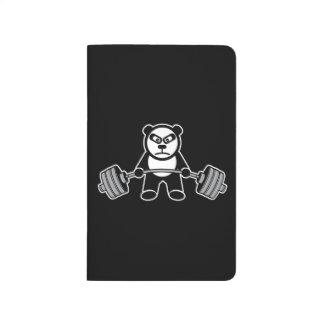 Weight Lifting Panda Bear Anime Cartoon - Workout Journal