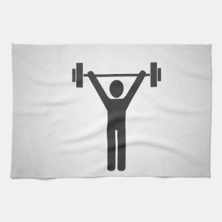 Weight Lifting Tea Towel
