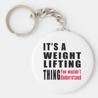 Weight Lifting Thing Designs Keychain