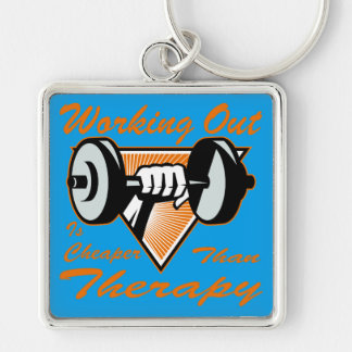 Weight Lifting Working Out Cheaper Than Therapy  2 Key Ring