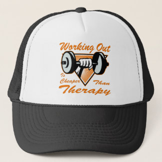 Weight Lifting Working Out Cheaper Than Therapy  2 Trucker Hat