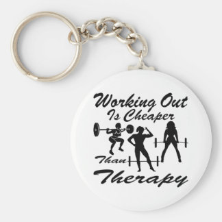 Weight Lifting Working Out Cheaper Than Therapy  3 Key Ring
