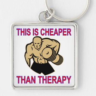 Weight Lifting Working Out Cheaper Than Therapy Key Ring