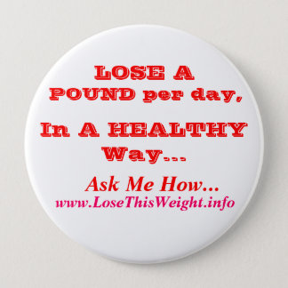 Weight Loss 10 Cm Round Badge