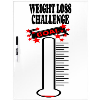 Weight Loss Goal Thermometer BLANK Dry Erase White Board