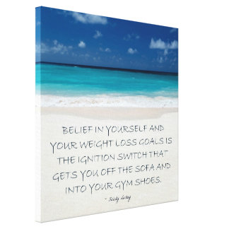 Weight Loss Motivational Canvas: Beach 13 Stretched Canvas Prints