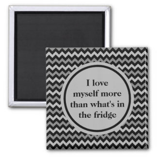 Weight loss positive affirmation in black and gray magnet