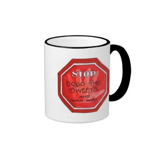 weight loss stop sign mugs