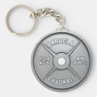 Weight Plate Keychain 20KG 45LB