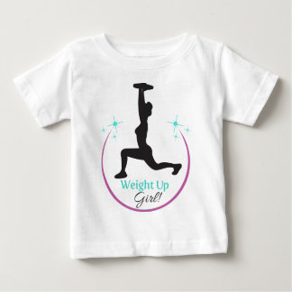 Weight_Up_girl_Rev_3 Baby T-Shirt
