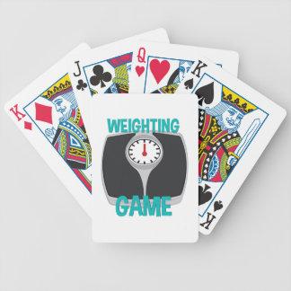Weighting Game Poker Deck
