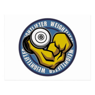 Weightlifter Barbell Curl Postcard