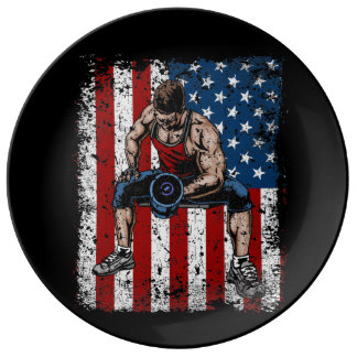 Weightlifter Dumbbell Fitness Plate