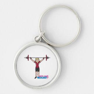 Weightlifter Girl - Light/Blonde Key Chains