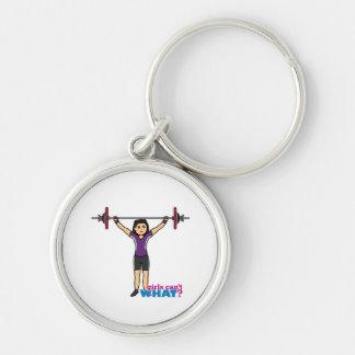 Weightlifter Girl - Medium Keychain