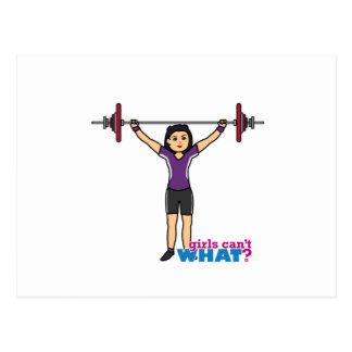 Weightlifter Girl - Medium Postcard