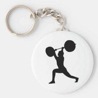 Weightlifter Key Chain