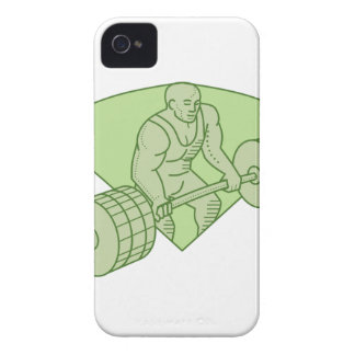 Weightlifter Lifting Barbell Mono Line Case-Mate iPhone 4 Cases