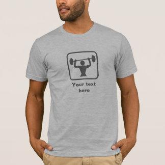 Weightlifter Logo -- Grey -- Customizable T-Shirt