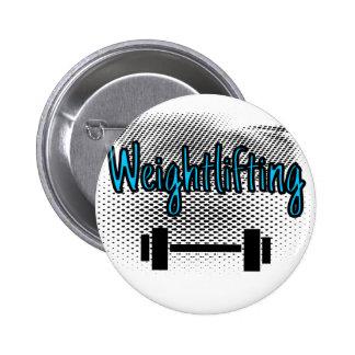 Weightlifting 6 Cm Round Badge