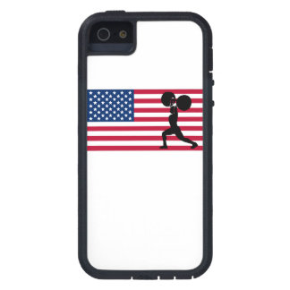 Weightlifting American Flag iPhone 5 Case