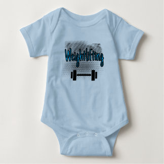 Weightlifting Bar Baby Bodysuit