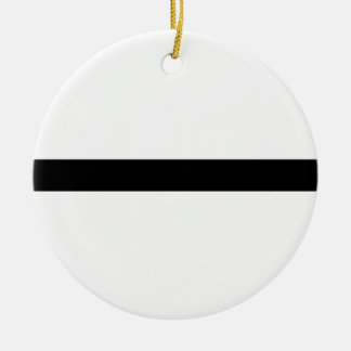 Weightlifting Barbell Ceramic Ornament