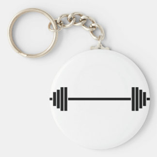 Weightlifting Barbell Key Ring