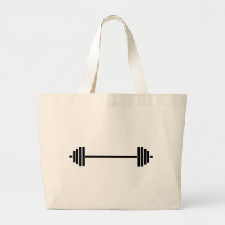 Weightlifting Barbell Large Tote Bag