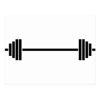 Weightlifting Barbell Postcard