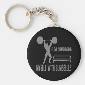 WEIGHTLIFTING BASIC ROUND BUTTON KEY RING