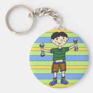 Weightlifting Boy Key Chains