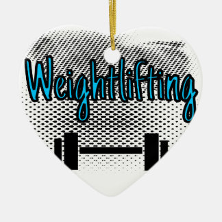 Weightlifting Ceramic Ornament